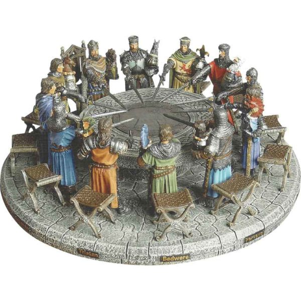 Hand Painted Knights of the Round Table Display