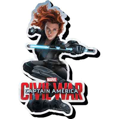 Marvel Civil War Black Widow Magnet