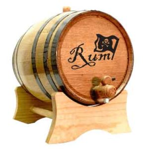 Jolly Roger Rum 2 Liter Oak Barrel