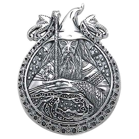 Sterling Silver Starry Wizard Pendant