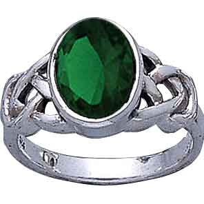 Emerald Green Celtic Ring