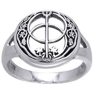 Silver Chalice Well Ring