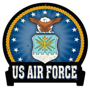 Air Force Round Banner Sign