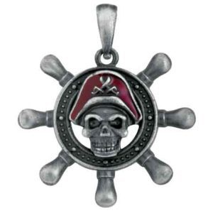 Pirate Shipwheel Necklace