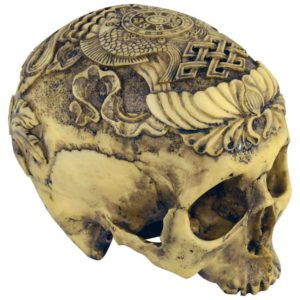 Artistic Carved Human Skull