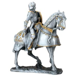 French Knight on Horseback Statue