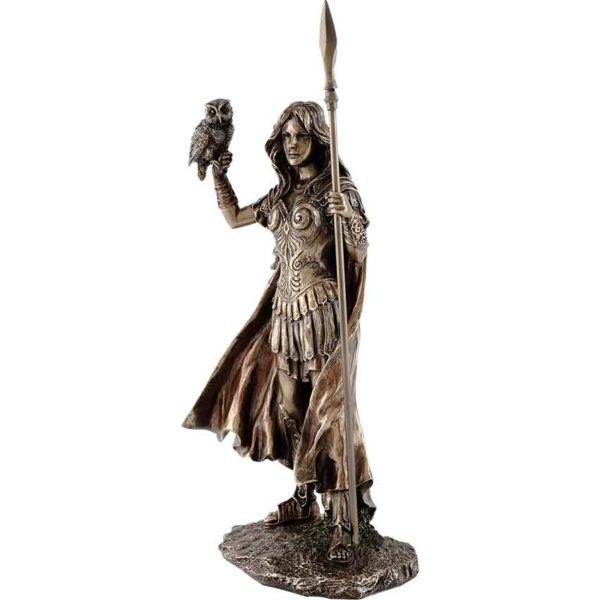 Athena with Owl Statue