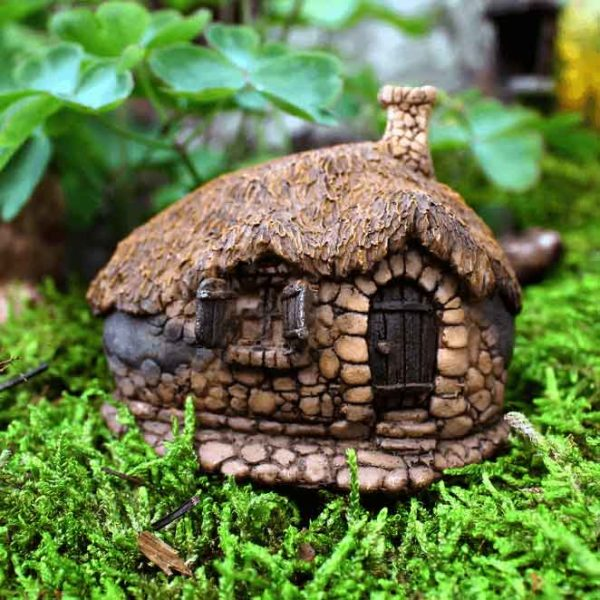 Thatch-Roofed Fairy House
