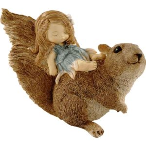 Fairy Sleeping on a Squirrel Statue