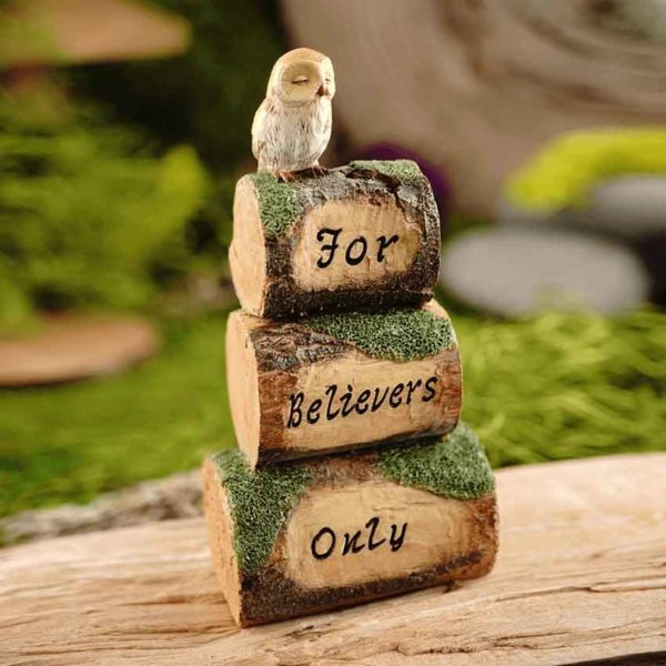 For Believers Only Log Cairn