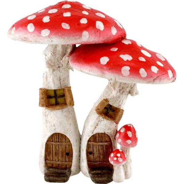 Red Mushroom Fairy Homes with Pick