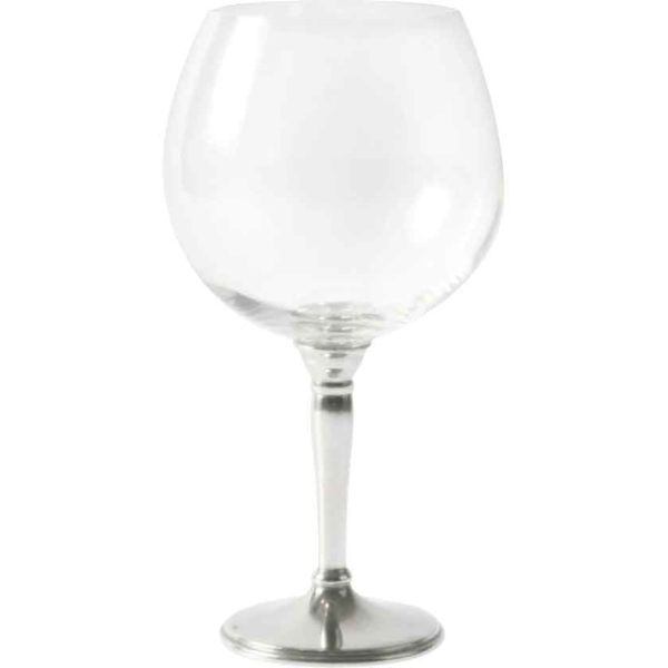 Classic Pewter Burgundy Glass