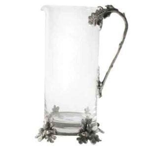 Acorn and Oak Leaf Glass Pitcher