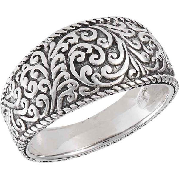 Sterling Silver Classic Scrollwork Ring