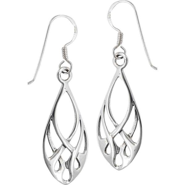 Sterling Silver Celtic Weave Loop Earrings