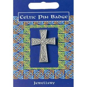 Interlaced Celtic Cross Pin Badge