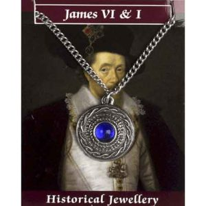 Pewter James VI Gem Necklace