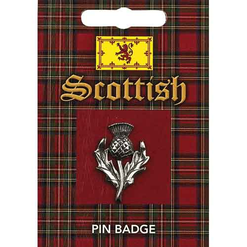 Scottish Thistle Pin Badge