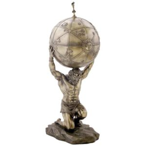 Atlas Carrying a Globe Tall Box