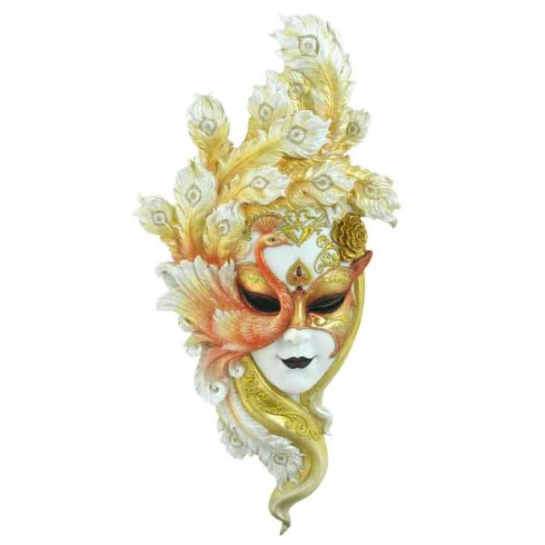 Gold Peacock Mask Wall Plaque