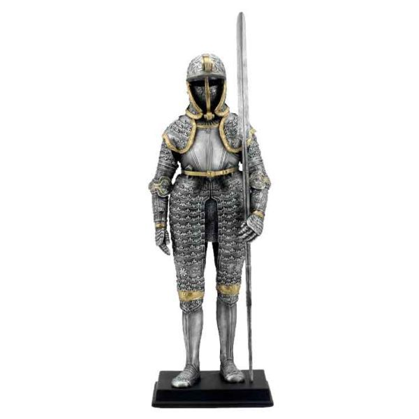 Medieval Armor with Langdebeve Statue