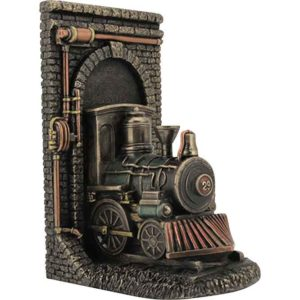 Steampunk Locomotive Bookend