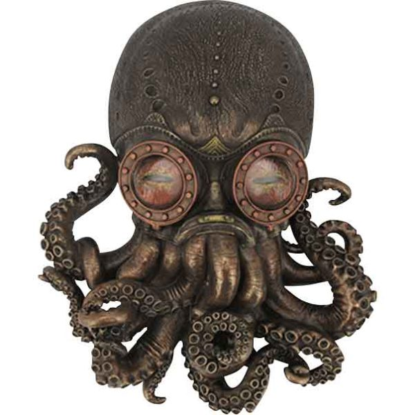 Steampunk Octopus Hanging Wall Plaque