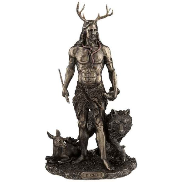 Herne the Hunter with Deer and Wolf