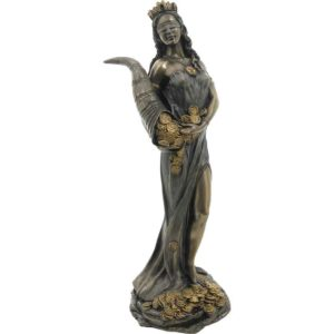 Bronze Goddess Fortuna Statue
