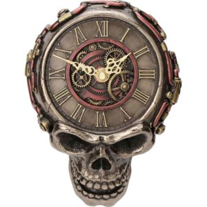Steampunk Skull Wall Clock