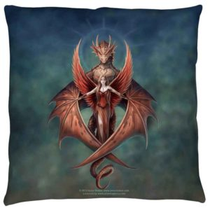 Small Anne Stokes Copperwing Pillow