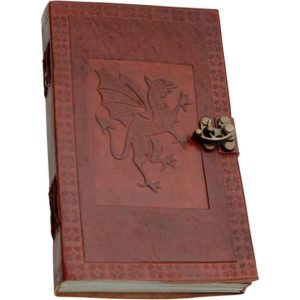 Dragon Leather Journal With Lock