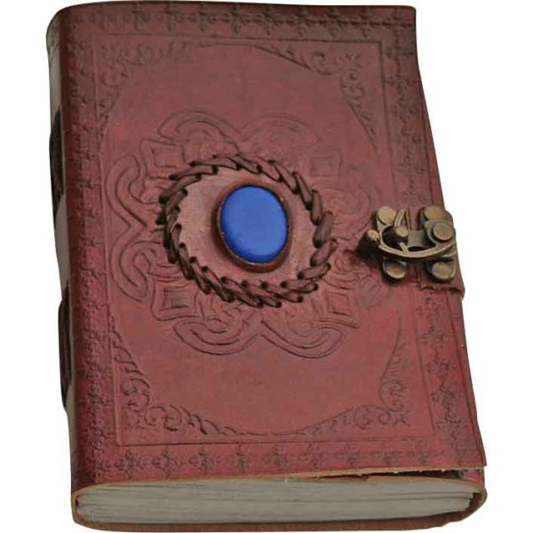 Blue Onyx Leather Journal with Clasp