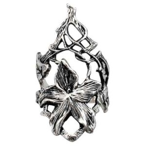 Sterling Silver Elven Lily Ring