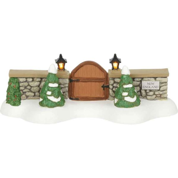 New England Village Gate - Christmas Village Accessories by Department 56
