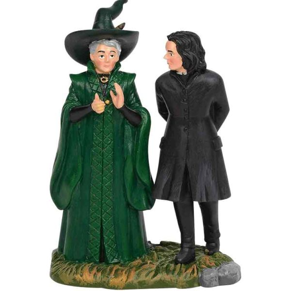 McGonagall and Snape - Harry Potter Village by Department 56
