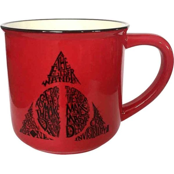 Red Deathly Hallows Mug