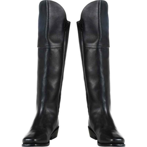 Mens Tall Black Leather Boots