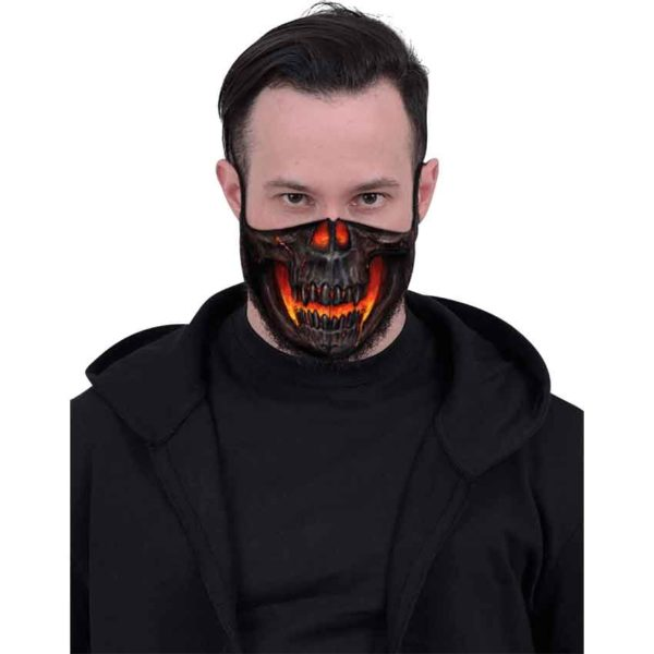 Lava Skull Face Mask