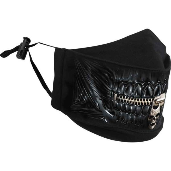 Zipped Mouth Face Mask