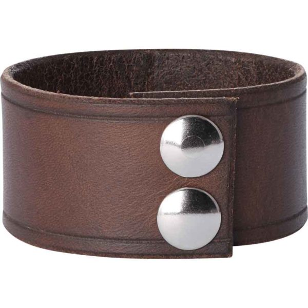 Leather Wrist Cuffs with Knotwork Shield