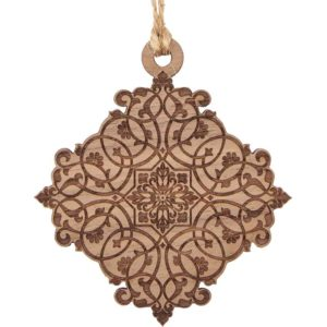 Medieval Filigree Wooden Christmas Ornament