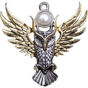 Golden Owl of Athena Necklace