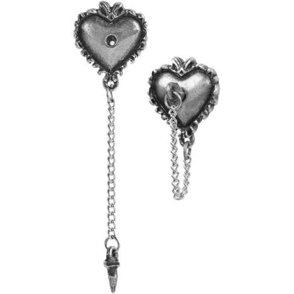 Witches Heart Stud Earrings