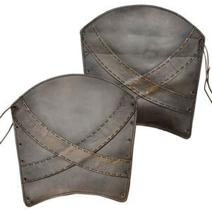 Padded Leather Banded Greaves