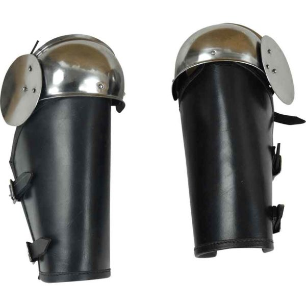 Leather Bracers with Steel Elbow Armor