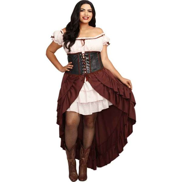 Womens Medieval Wench Plus Size Costume