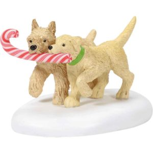 Peppermint Pups - Christmas Village Accessories by Department 56