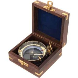 Etched Magnifying Compass with Box