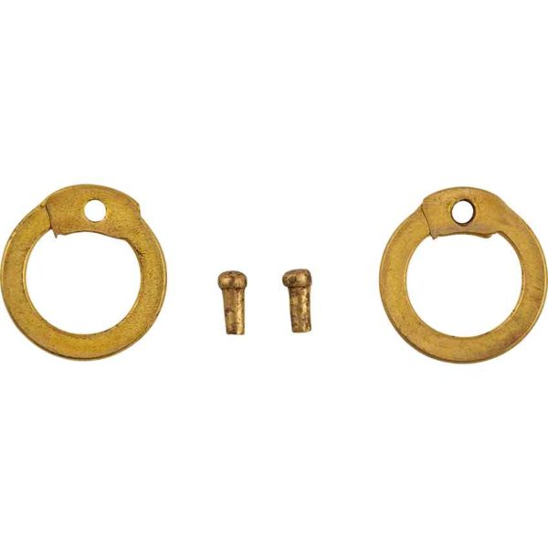 Brass Flat Ring Round Riveted Chainmail Rings